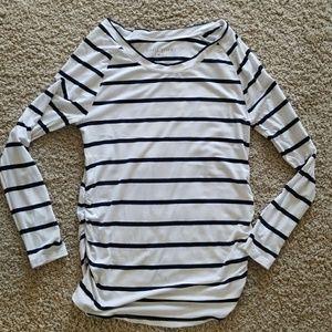 Rosie Pope striped navy maternity long sleeve tee